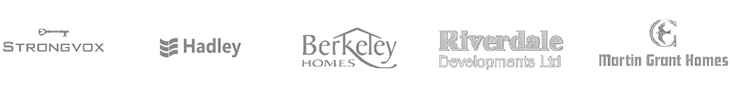 Strongvox, Hadley, Berkeley Homes, Riverdale Developments Ltd, Elan Homes